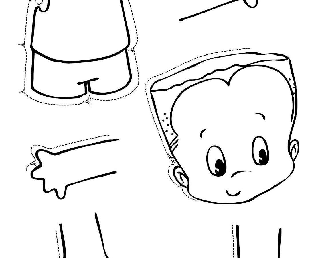 Preschool Worksheet For Body Parts