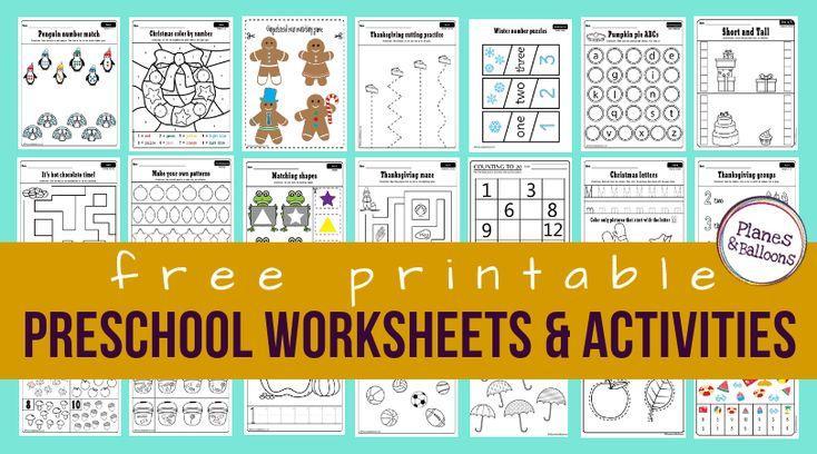 Preschool Worksheets Age 3 Pdf