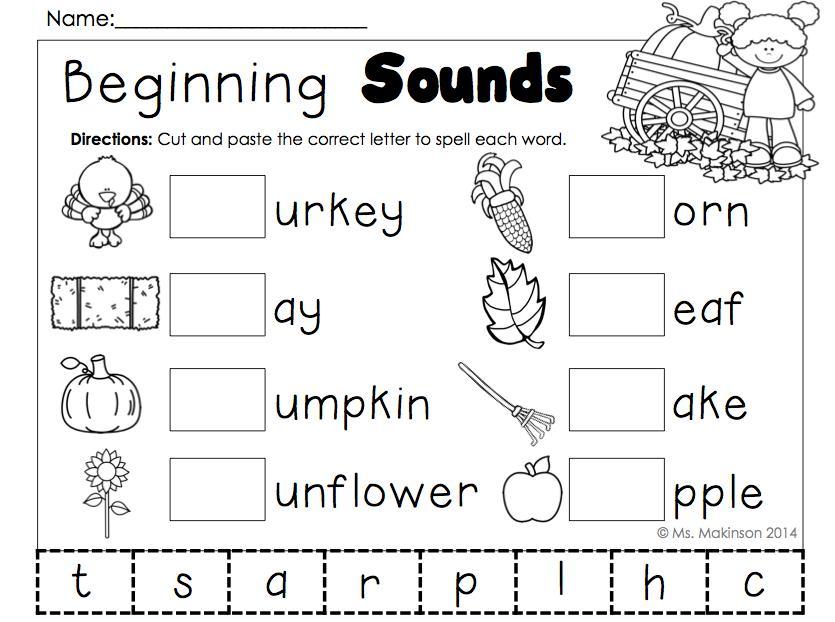 Preschool Worksheets Beginning Sounds 4