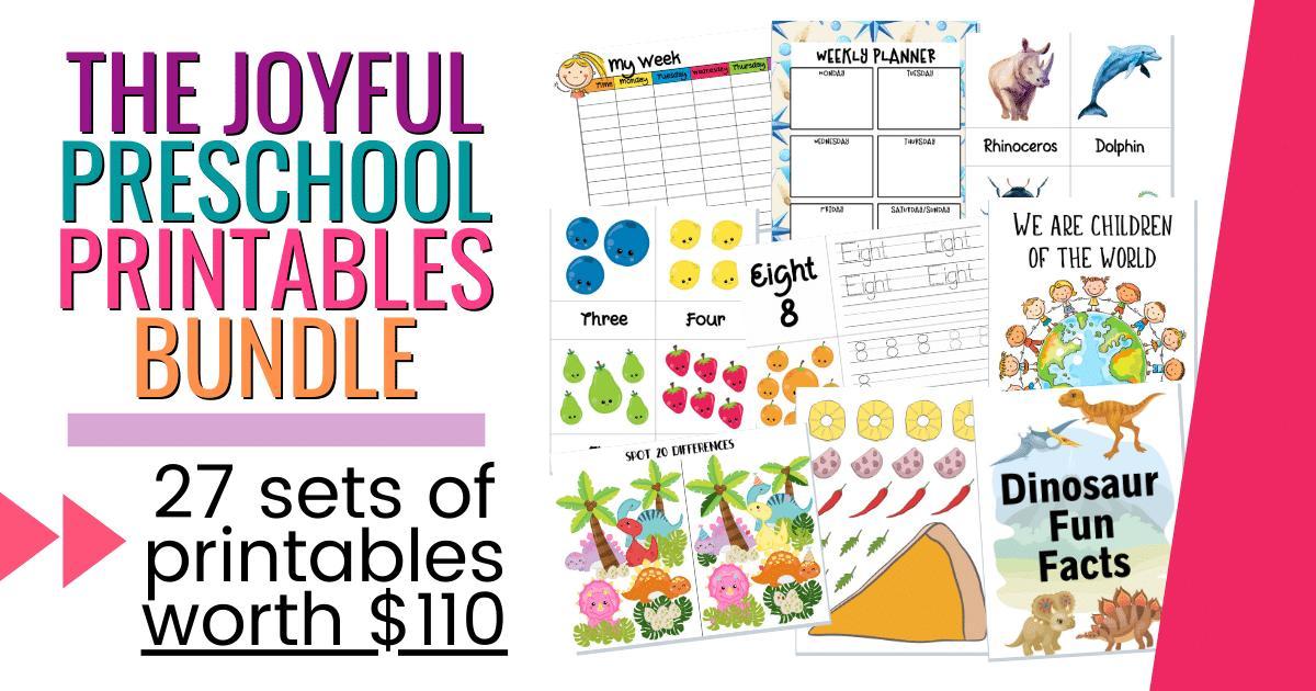 Preschool Worksheets Bundle 8