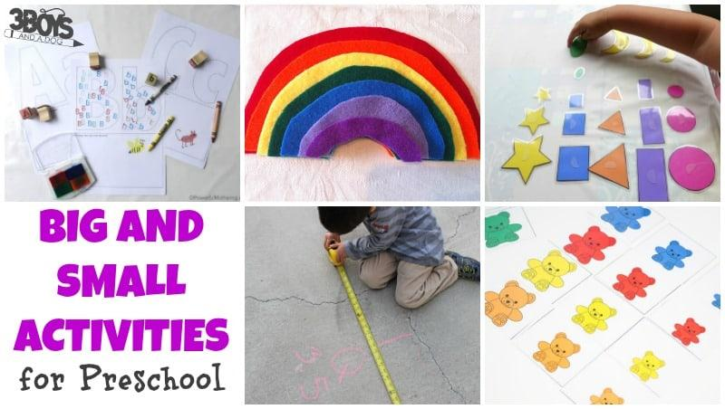 Preschool Worksheets For Big And Small
