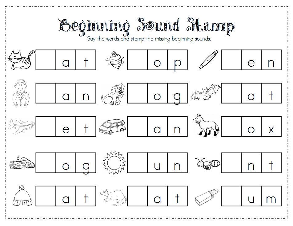 Preschool Worksheets Letter Sounds