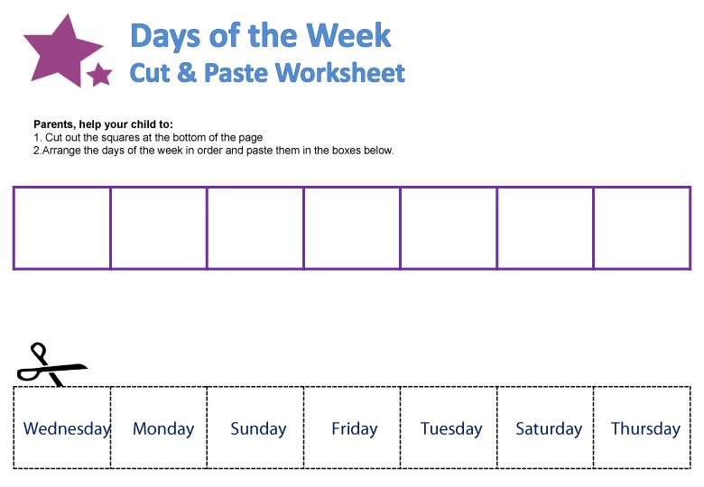 Free Printable Days Of The Week Worksheets For Kindergarten