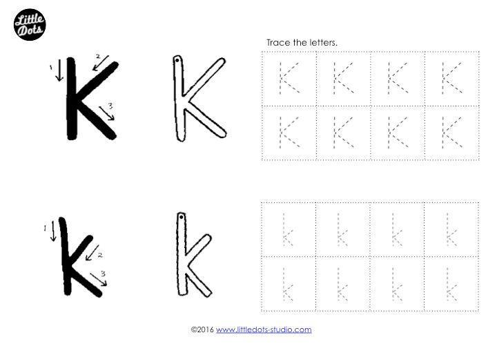 Letter K Tracing Worksheets For Preschool