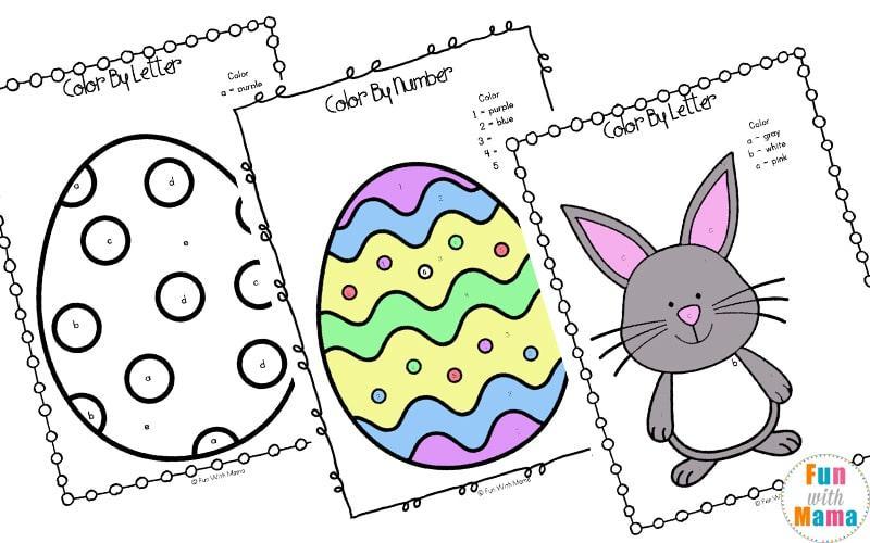 Preschool Easter Counting Worksheets