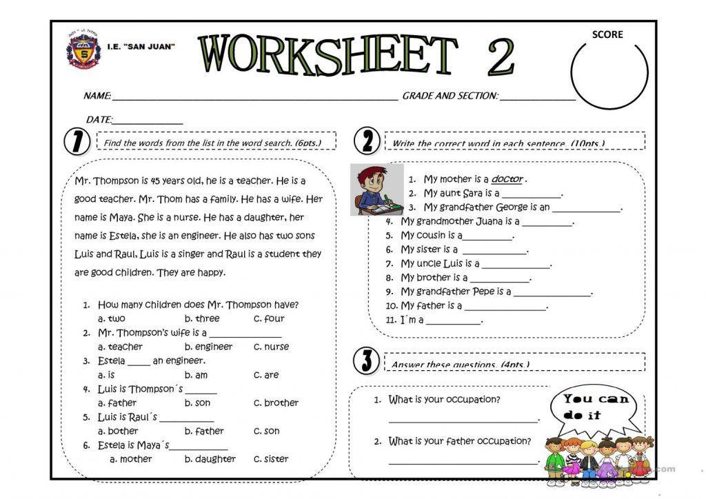 Preschool English Worksheets Free Printable 3