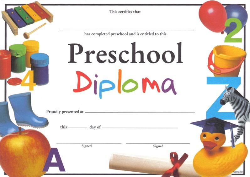 Preschool Graduation Worksheets 1