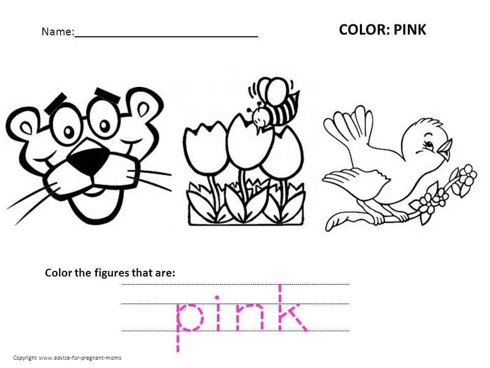 Preschool Worksheets Color Brown