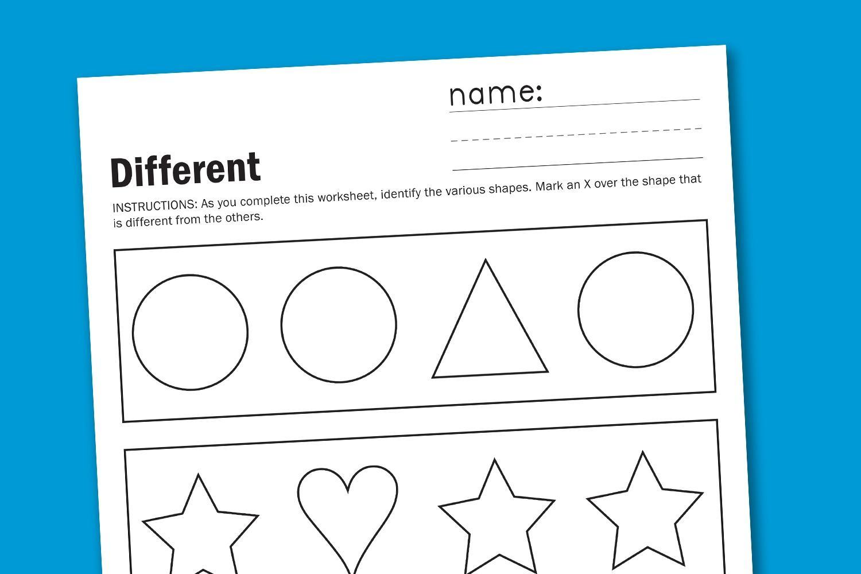 Preschool Worksheets Different Same 1