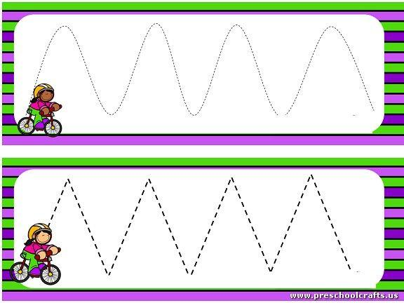 Preschool Worksheets Dotted Lines 1