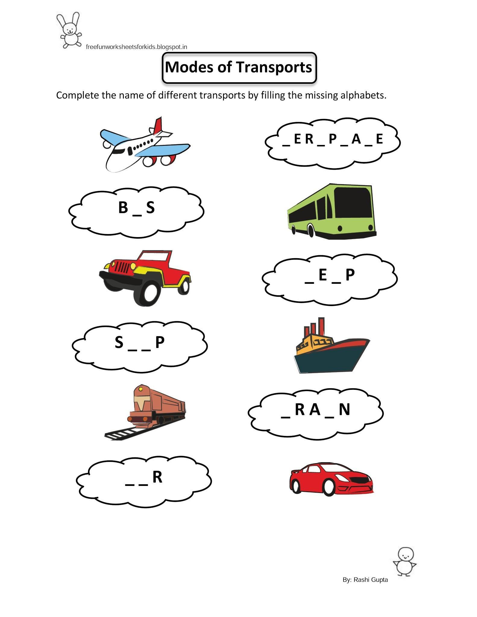 Preschool Worksheets Evs 7