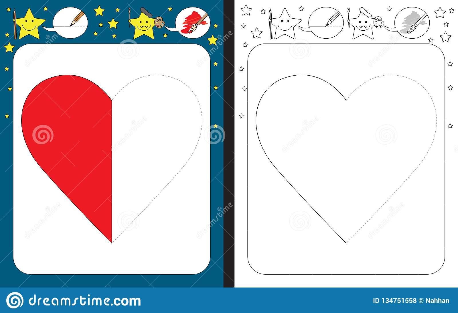 Preschool Worksheets Heart 5