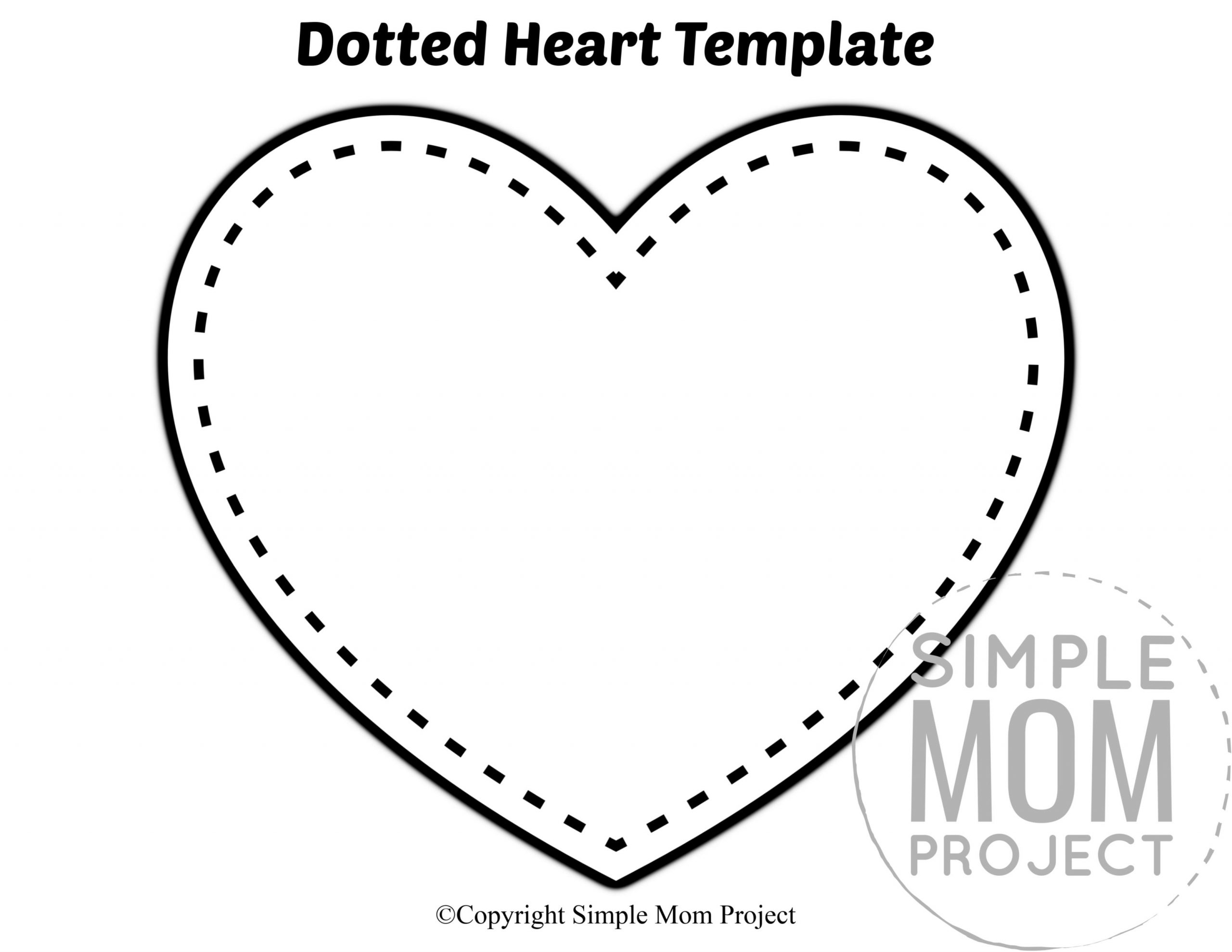 Preschool Worksheets Heart 6