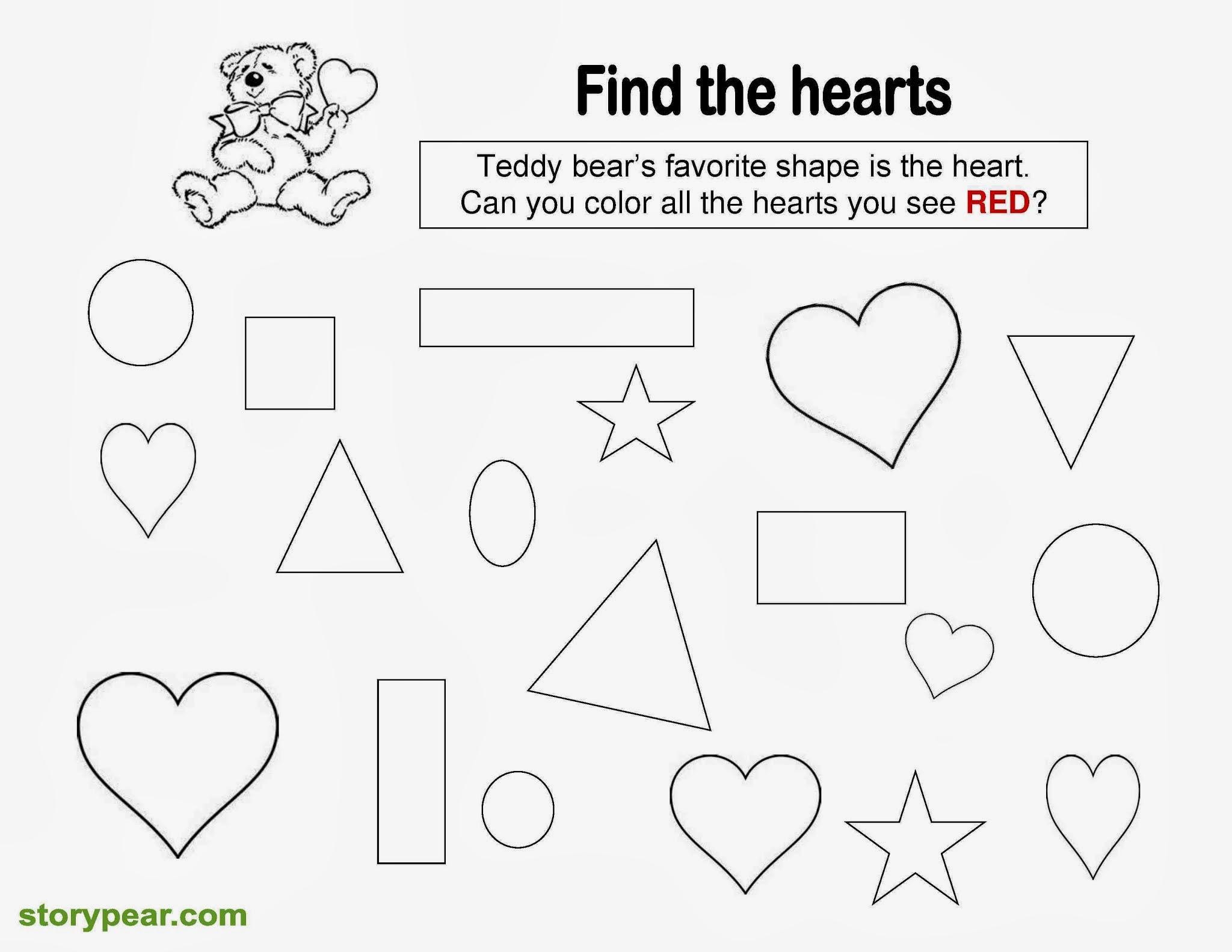Preschool Worksheets Heart 7