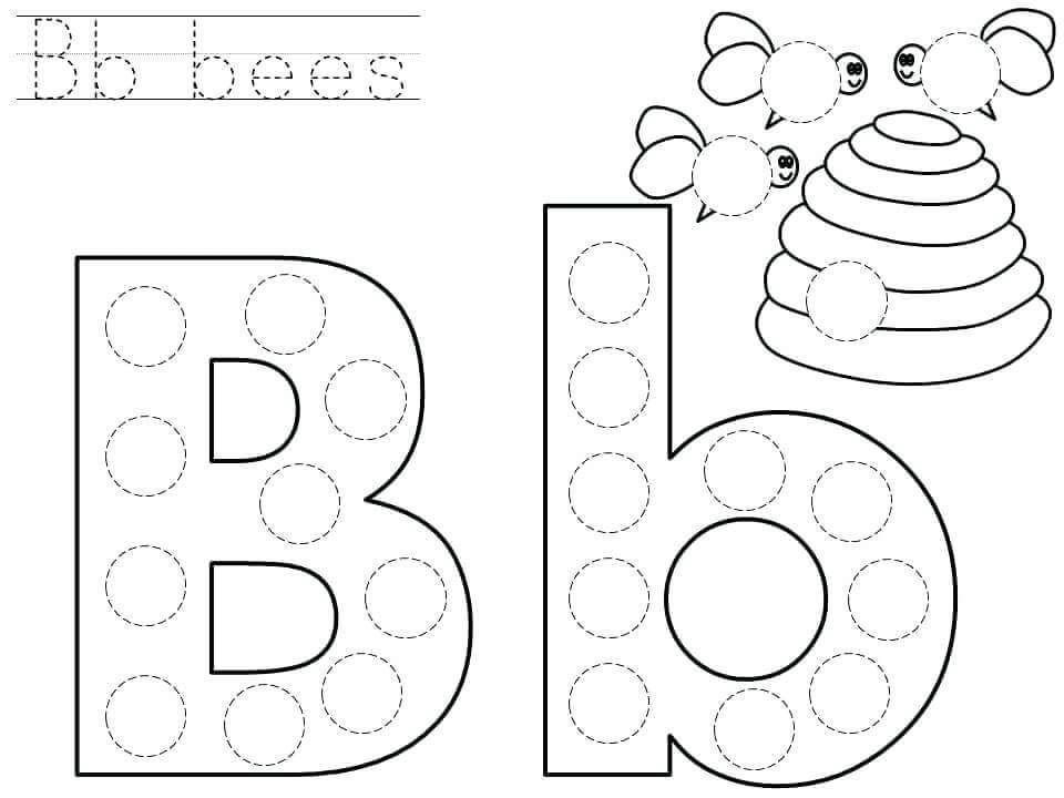 Preschool Worksheets Letter B 1