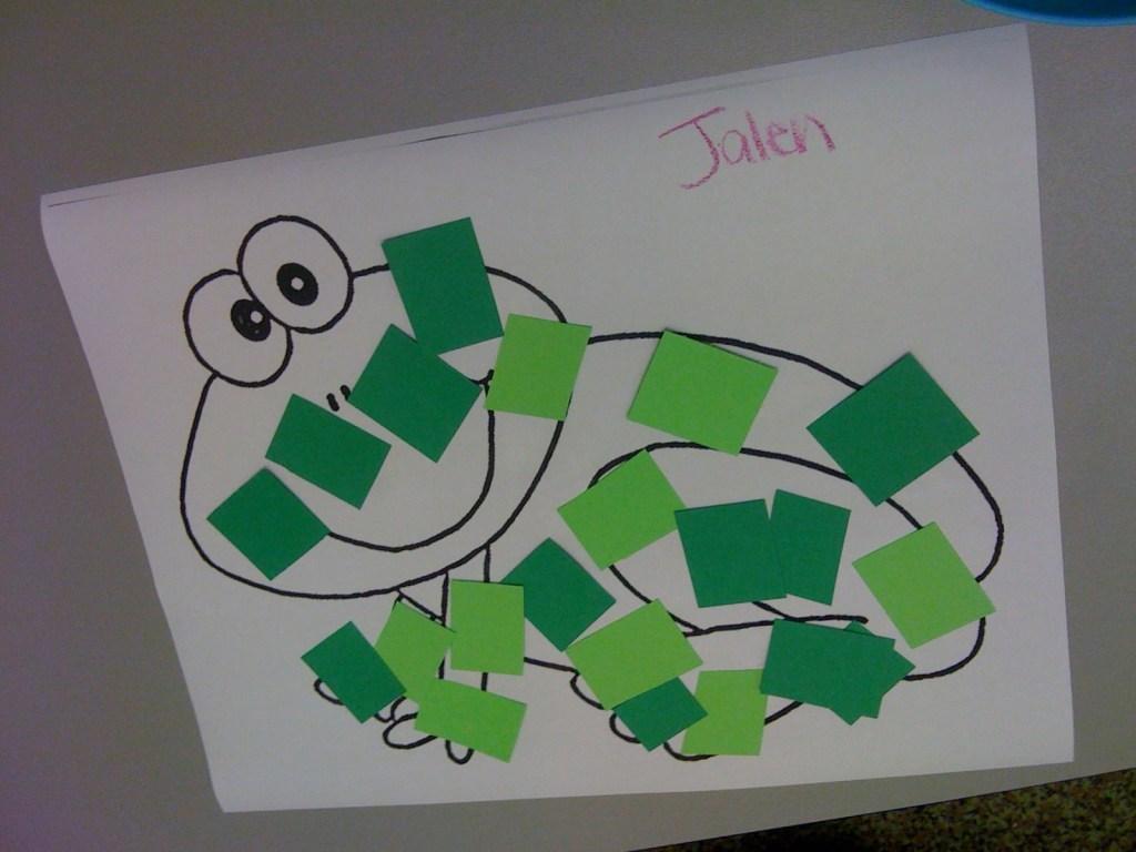 Printable Color Green Worksheets For Preschool