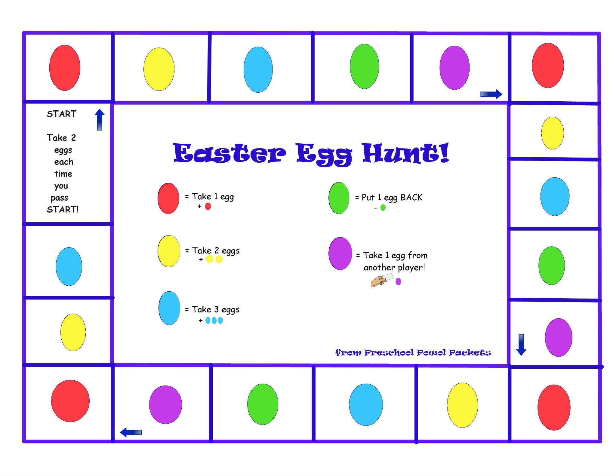 Printable Preschool Easter Worksheets