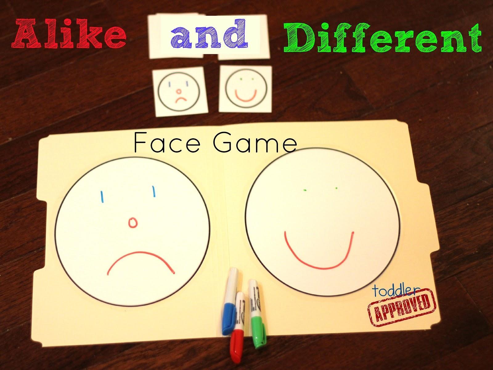 Same Different Worksheets For Preschool