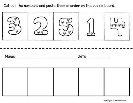 Free Preschool Worksheets Numbers 1-20