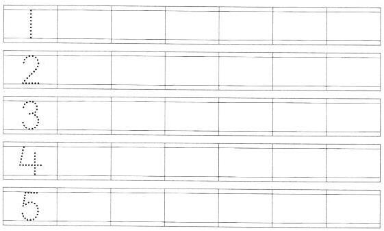 Preschool Number Worksheets 1-10 Pdf