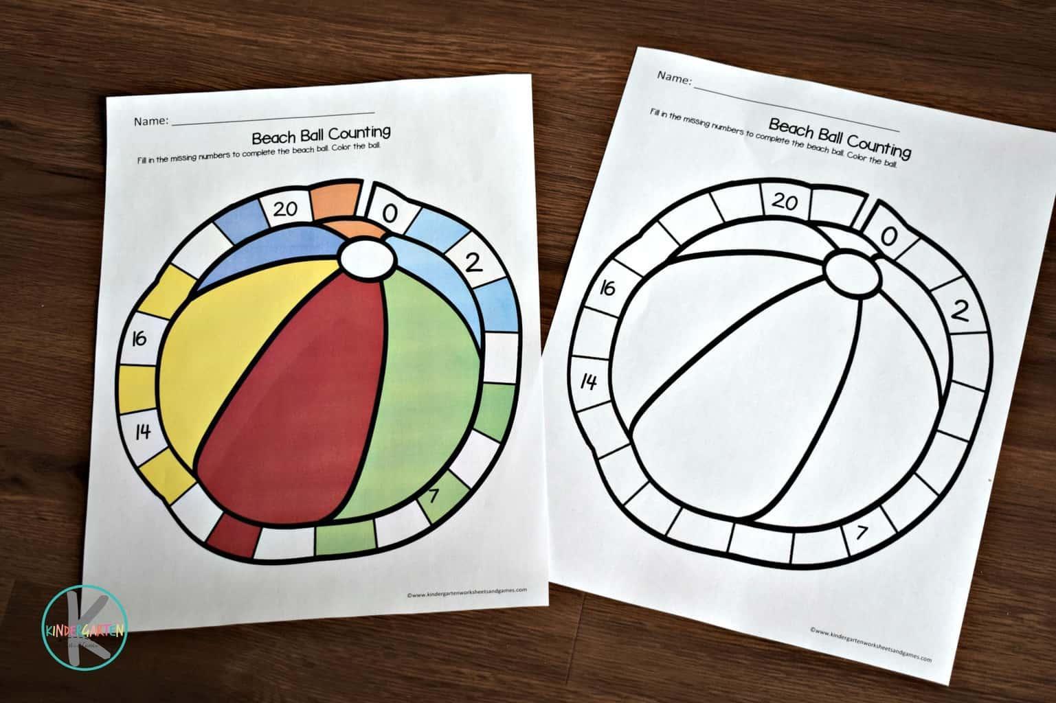 Preschool Summer Fun Worksheets