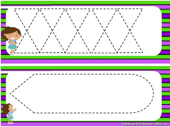 Preschool Worksheets Dotted Lines