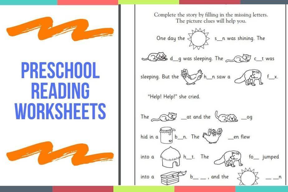 Preschool Worksheets Reading 1