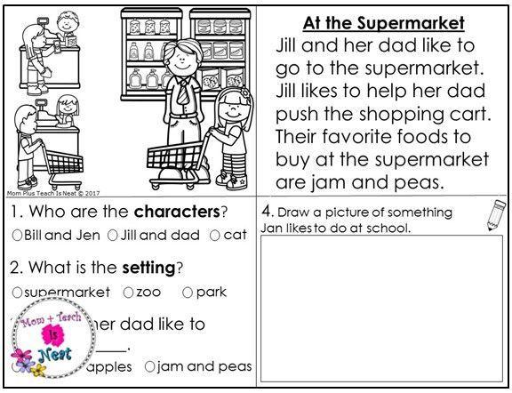 Preschool Worksheets Reading Comprehension 2