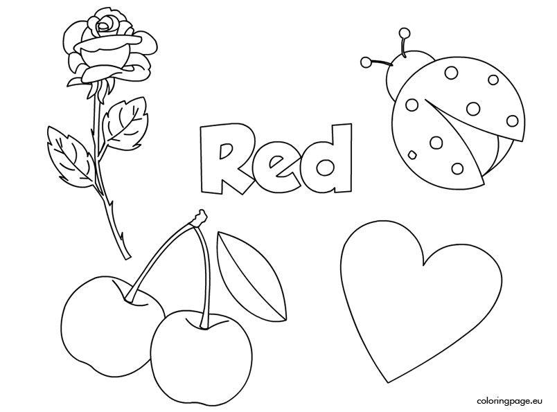 Preschool Worksheets Red 5