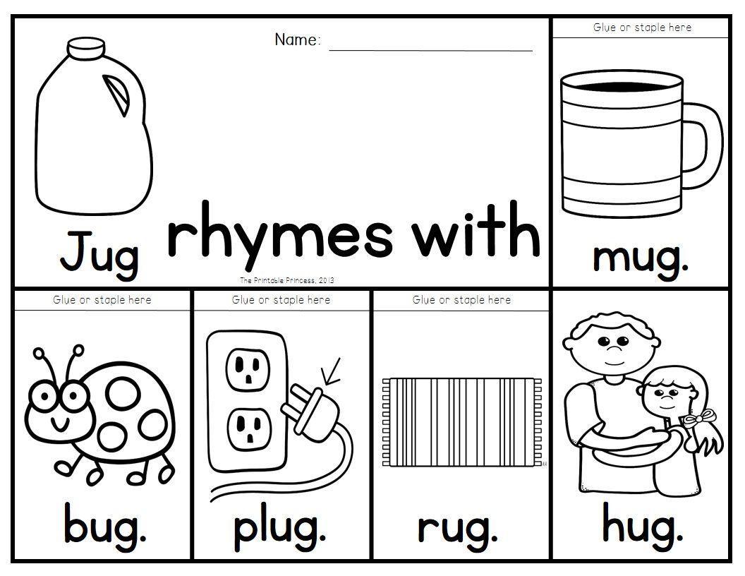 Preschool Worksheets Rhyming Words 4
