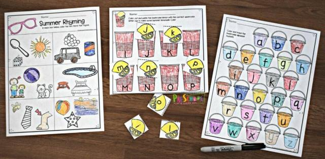 Preschool Worksheets Summer