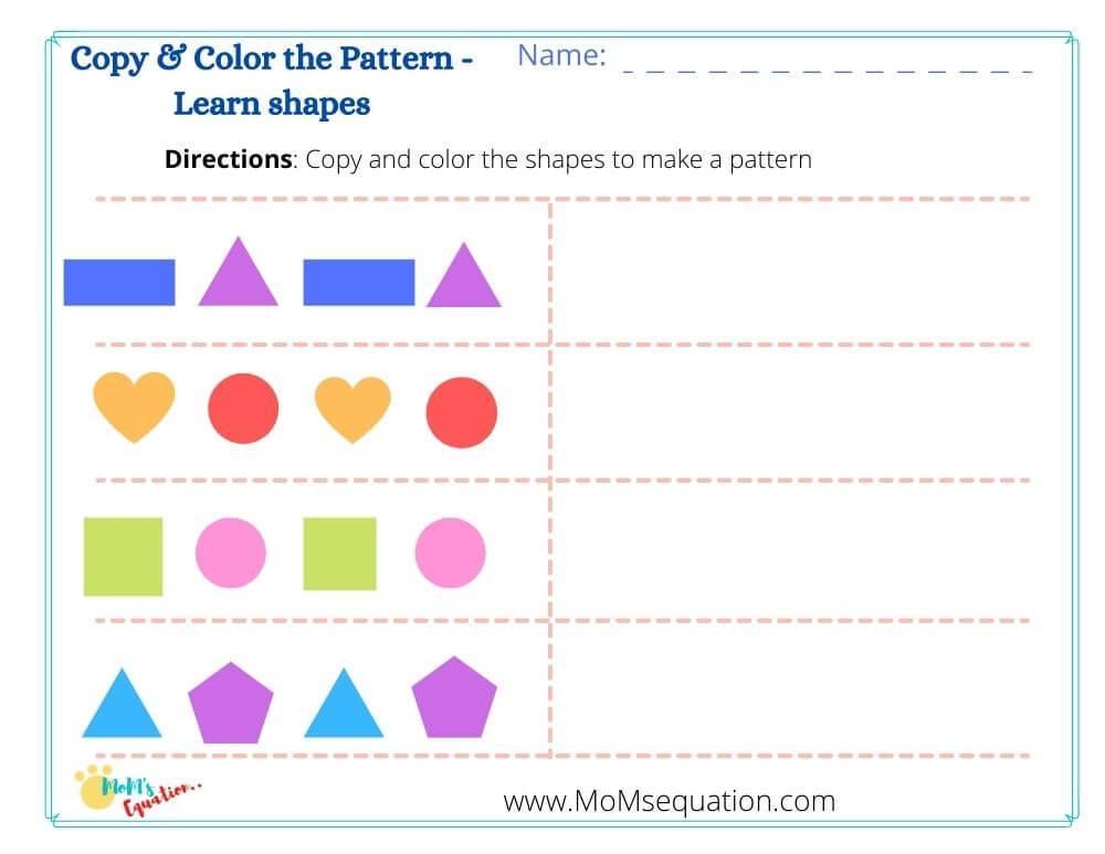 Preschool Writing Patterns Worksheets