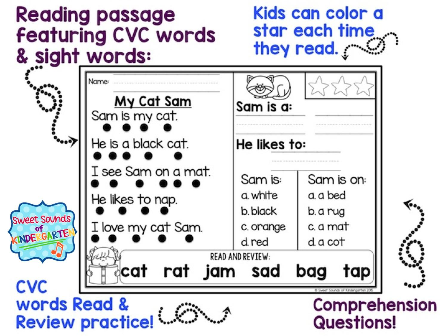 Reading And Comprehension Worksheets For Preschool