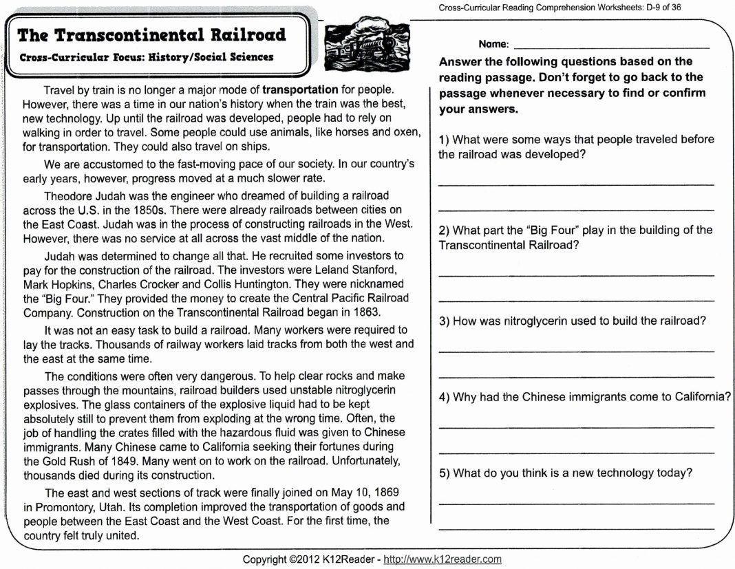 Reading Comprehension Worksheets For Preschool Pdf