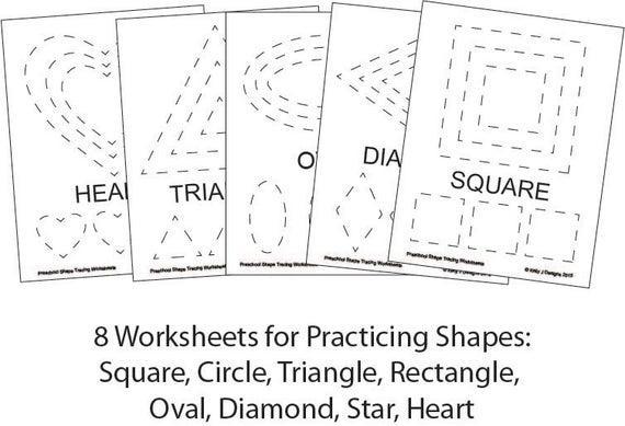 Worksheets On Rectangle For Preschool 1