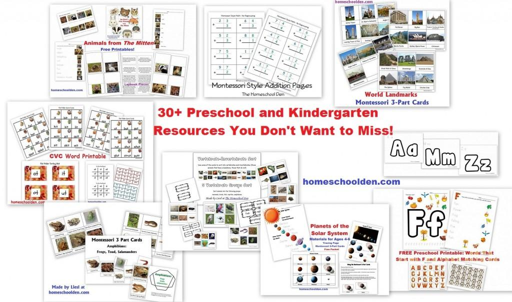 Free Preschool Printables For 3 Year Olds