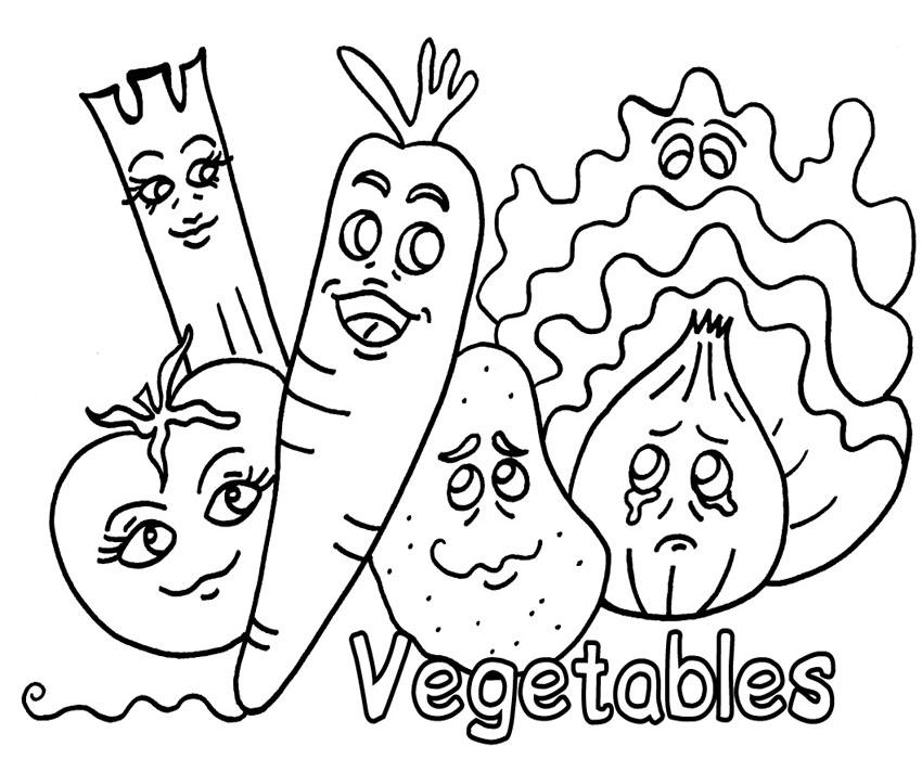 Fruit And Vegetable Worksheets For Preschool