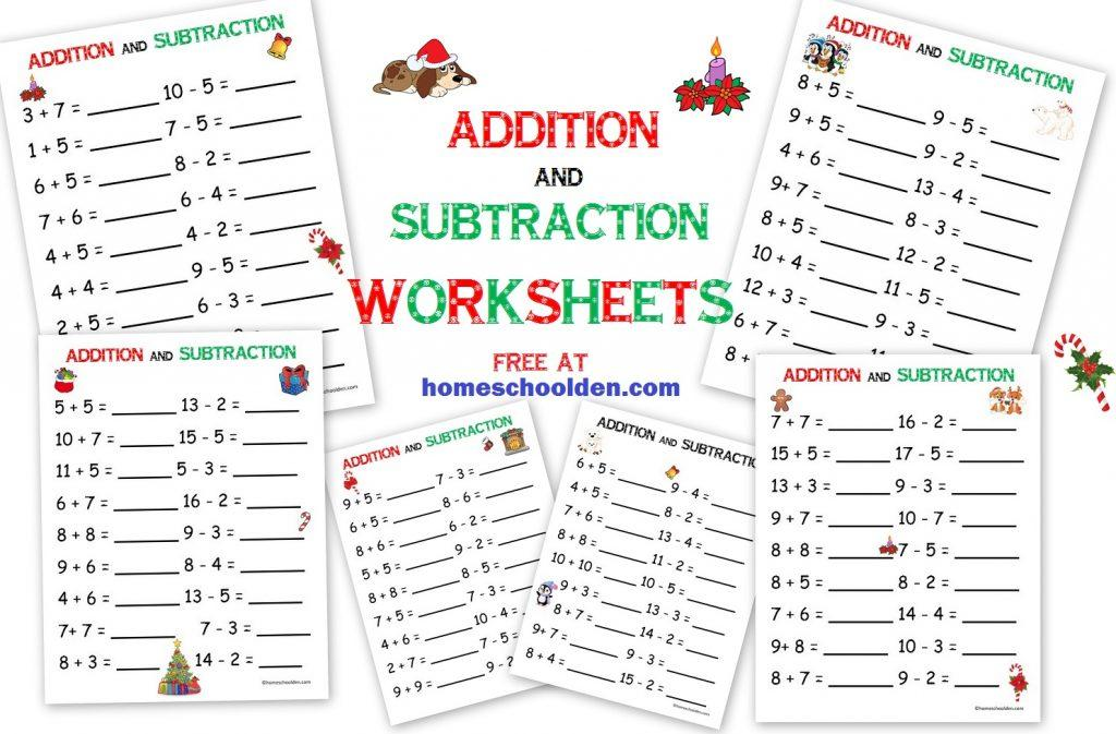 Math Worksheets Addition And Subtraction 2