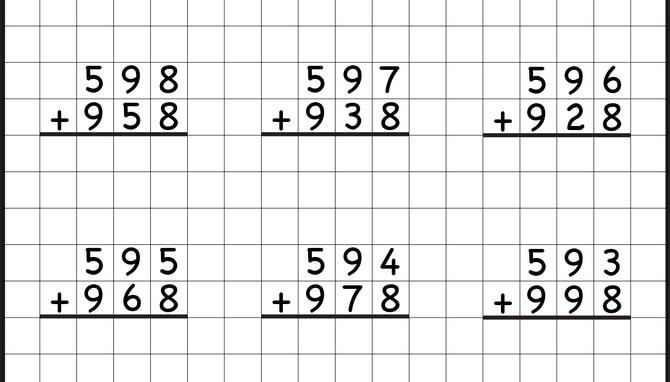 Math Worksheets Addition And Subtraction Grade 3 2