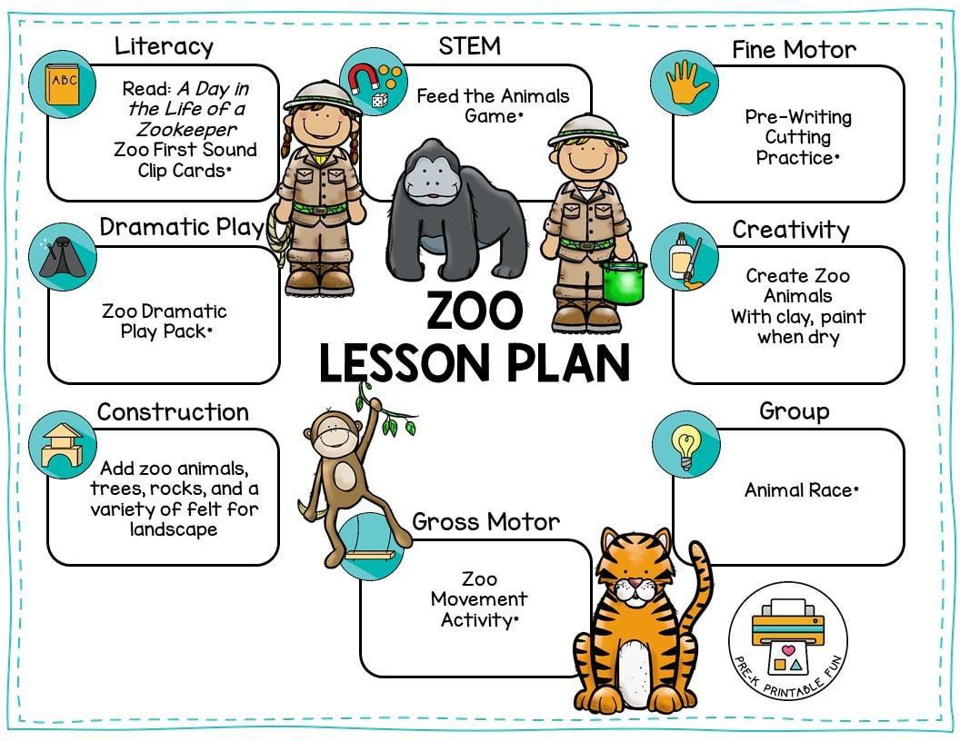 Prek Zoo Worksheets