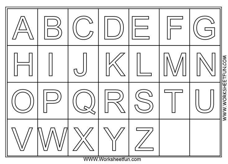 Preschool Alphabet Worksheets A-z 1