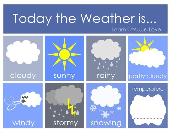 Preschool Weather Printables Free