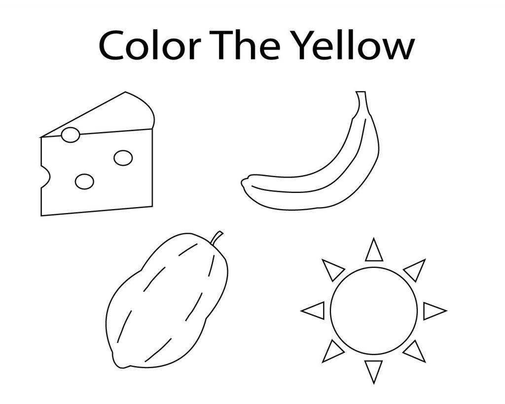 Preschool Worksheets Color Yellow 7