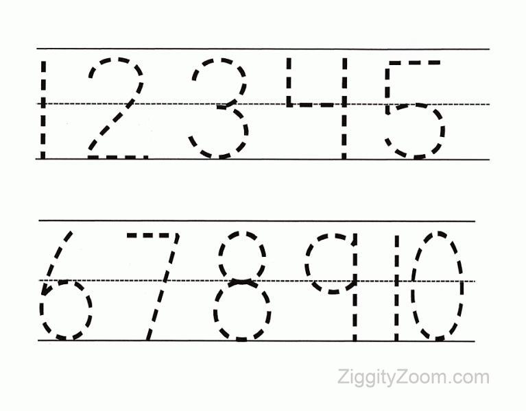 Preschool Worksheets Letters And Numbers