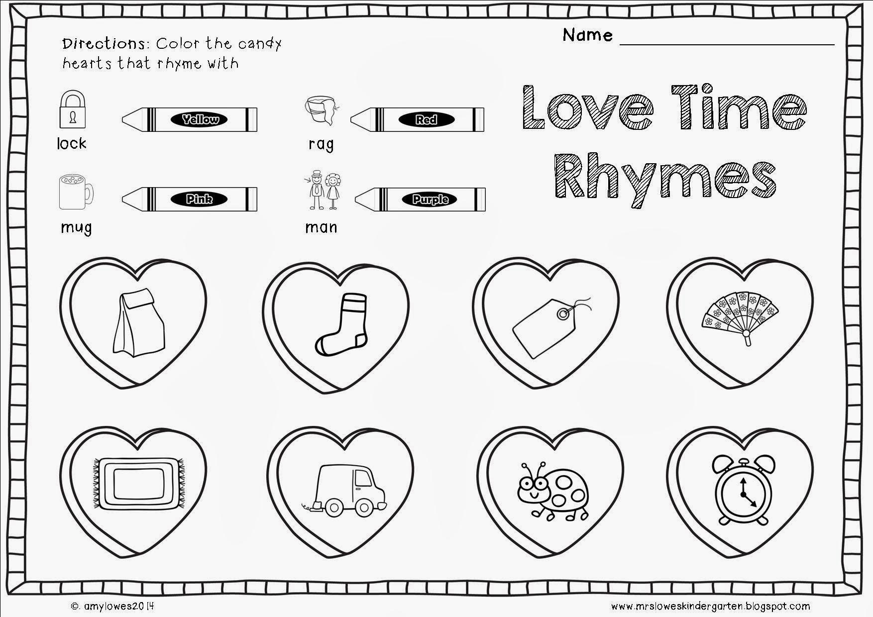 Preschool Worksheets Valentine's Day 3