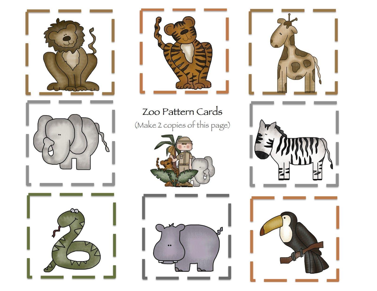 Preschool Worksheets Zoo Animals