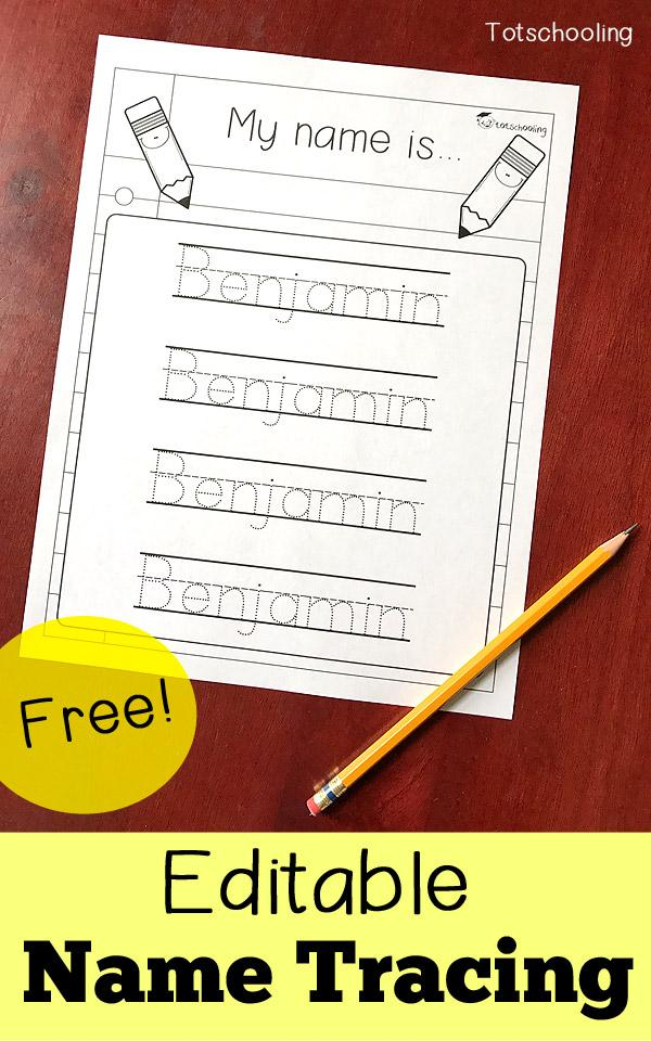 Preschool Writing Name Worksheets Free