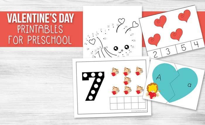 Valentine's Day Preschool Math Worksheets