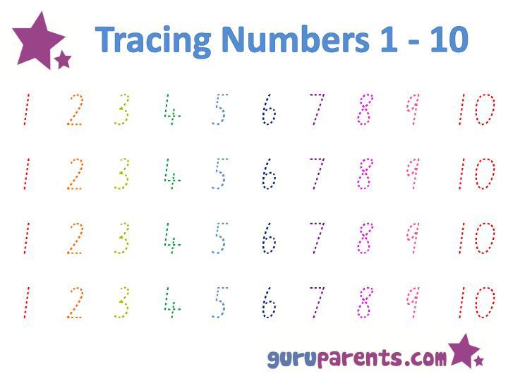 Writing Numbers In Words Worksheets For Preschool