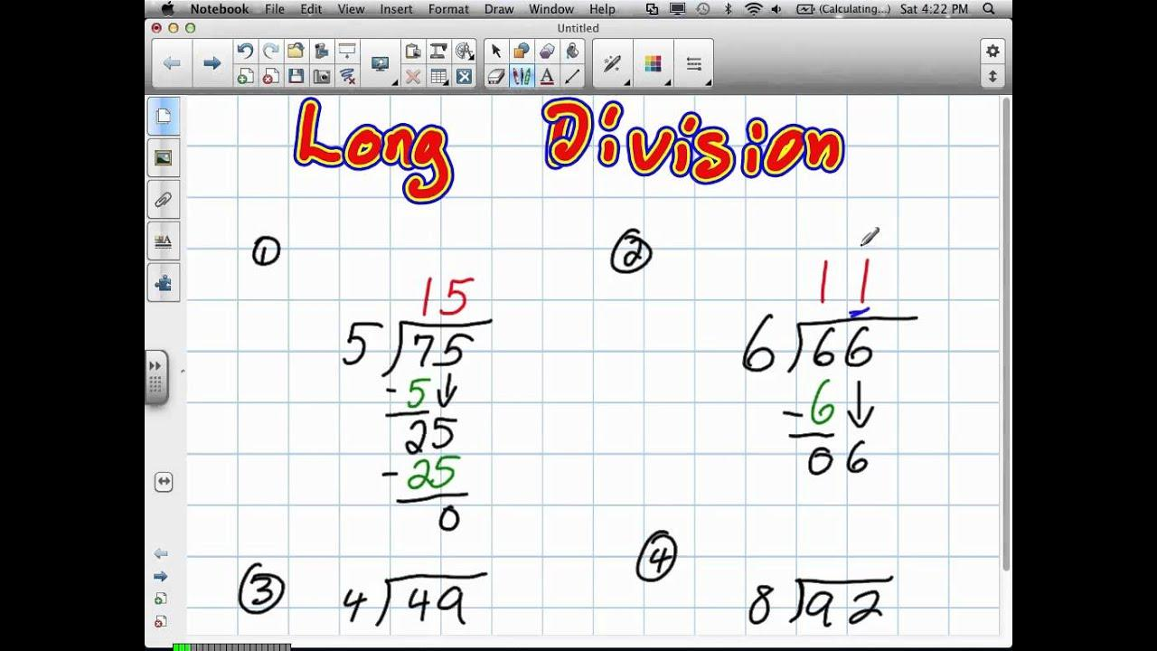 Homeschool Math Worksheets Long Division